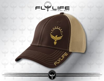 Flexfit Khaki and Brown Hat Gold Print