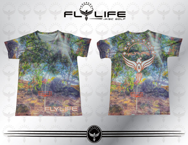 Bnb Design Mens Tee Shirt Fly Life Disc Golf